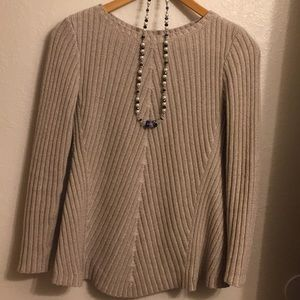 Tan knitted sweater
